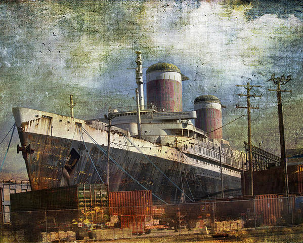 Ship Poster featuring the photograph Final Port by John Rivera