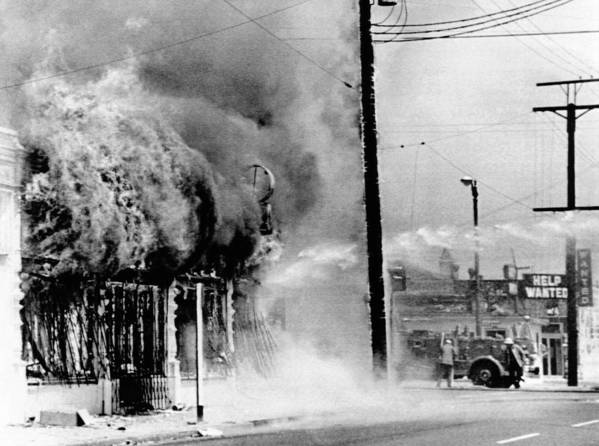 History Poster featuring the photograph Fire On A Block During The 4th Day by Everett