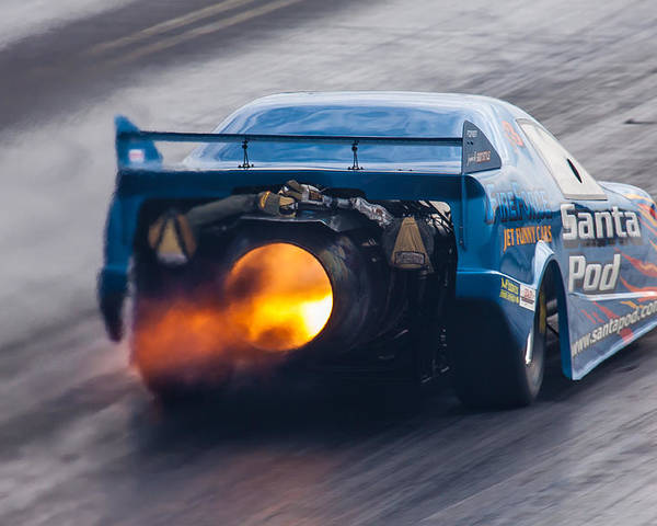 Fireforce Poster featuring the photograph Fireforce Jet Funny Car by Ken Brannen