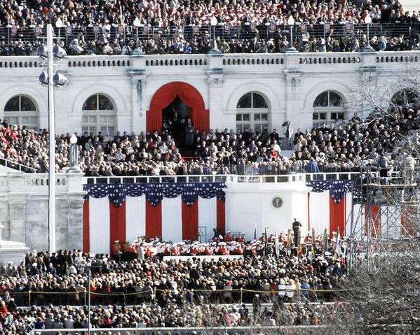 History Poster featuring the photograph First Inauguration Of Bill Clinton by Everett