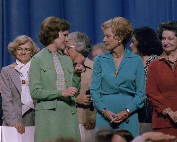 History Poster featuring the photograph First Ladies Rosalynn Carter With Betty by Everett