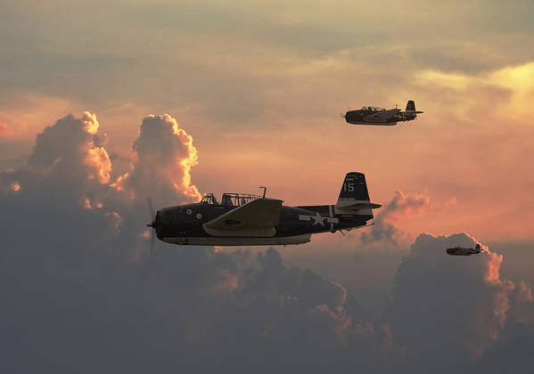 Aircraft Poster featuring the photograph First Light Strike by Pat Speirs