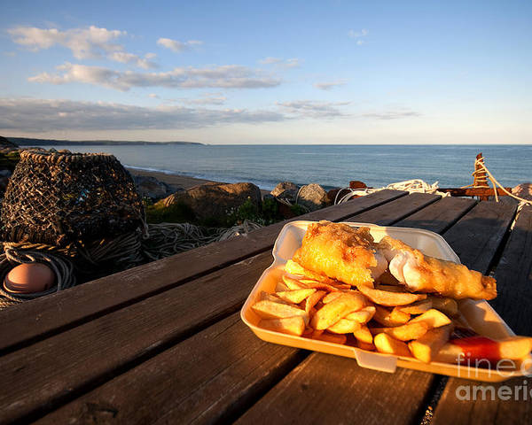 Fish Poster featuring the photograph Fish 'n' Chips By The Beach by Rob Hawkins