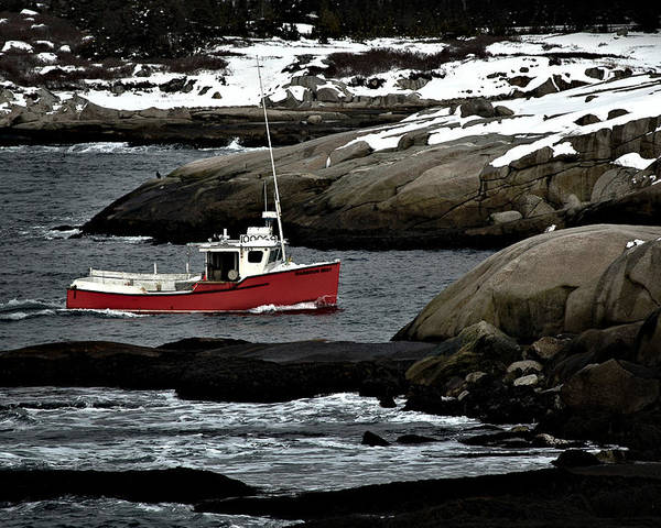 Fishing Poster featuring the photograph Fishing Boat by Geoff Evans