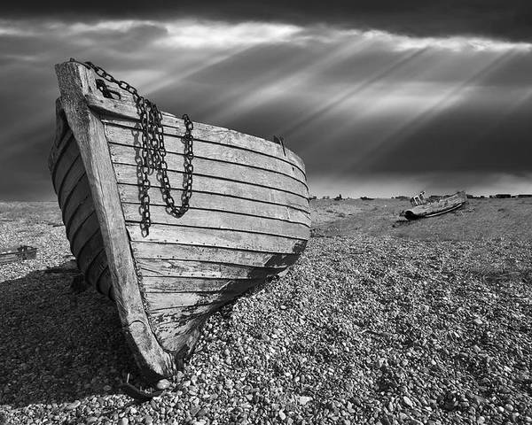 Fishing Boat Poster featuring the photograph Fishing Boat Graveyard 2 by Meirion Matthias