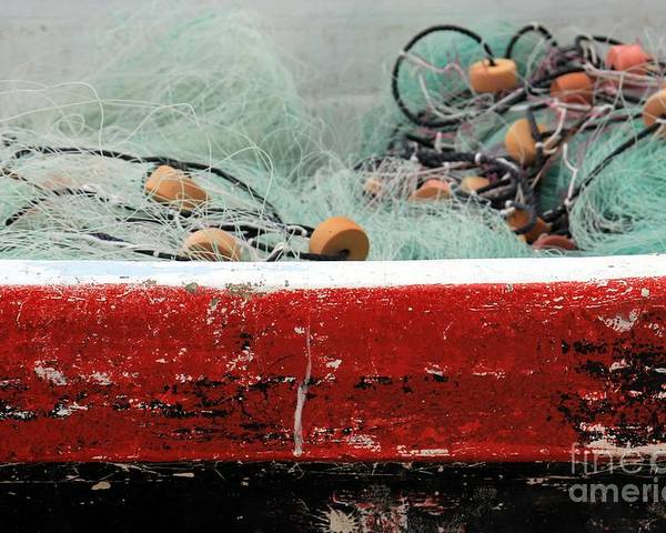 Net Poster featuring the photograph Fishing Net by Sophie Vigneault
