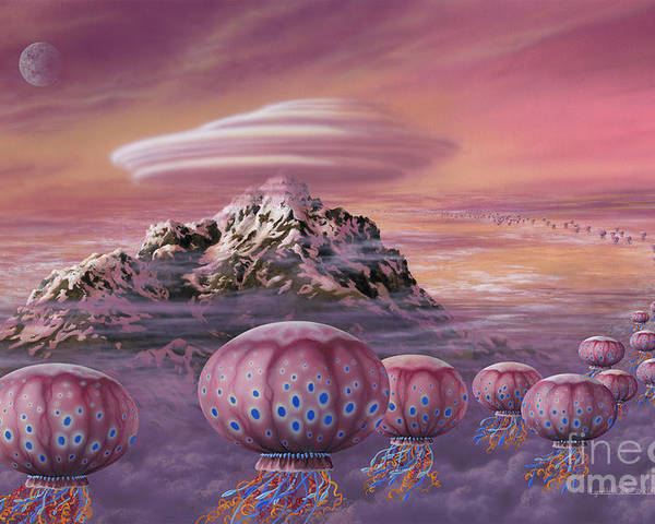 Lynette Cook Poster featuring the painting Floaters by Lynette Cook