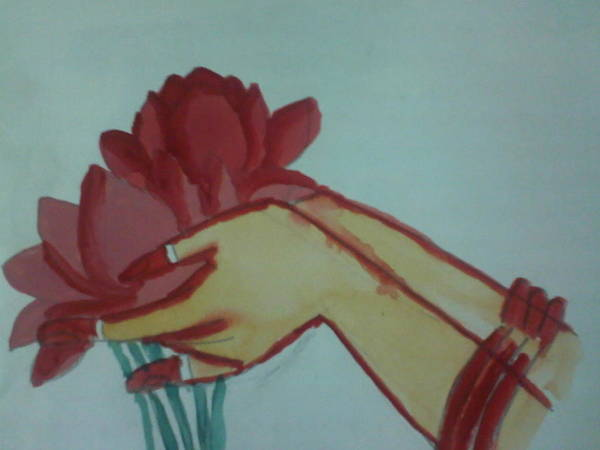 Lotus Poster featuring the painting Floral Offering by Amisha Tripathy