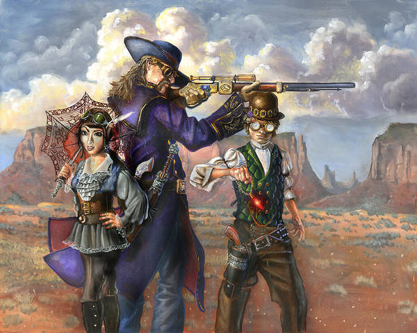 Wild Bill Hickok Poster featuring the painting Flux Engine by Jeff Brimley