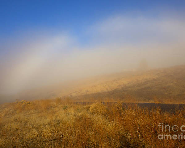 Fog Bow Poster featuring the photograph Fog Bow At Lookout Point by Mike Dawson
