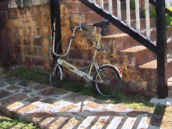 Bicycle Poster featuring the photograph Folding Bicycle Antigua by Susan Savad