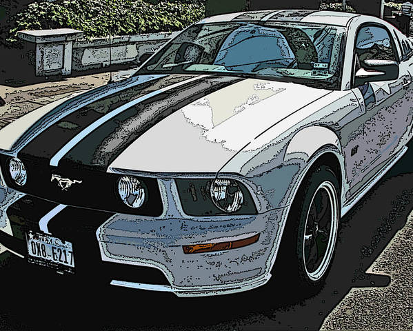 Ford Mustang Gt Poster featuring the photograph Ford Mustang Gt No. 2 by Samuel Sheats