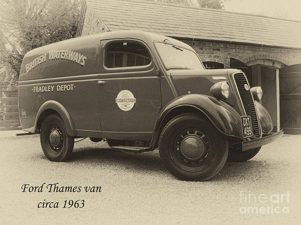 Van Poster featuring the photograph Ford Thames Van Aged by Steev Stamford