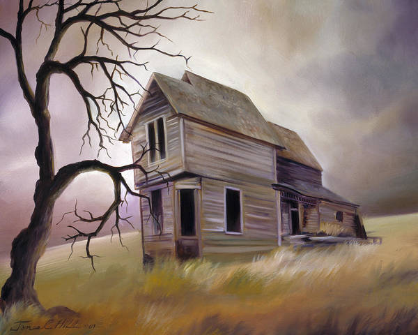 Haunted Poster featuring the painting Forgotten But Not Gone by James Christopher Hill