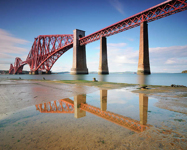 Horizontal Poster featuring the photograph Forth Rail Bridge by Stu Meech