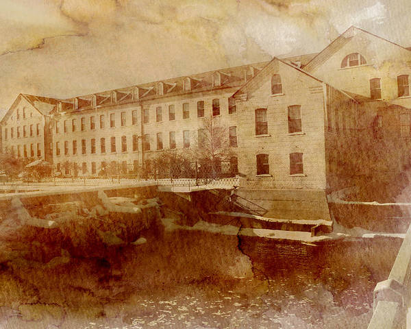 Fox River Mills Poster featuring the photograph Fox River Mills by Joel Witmeyer