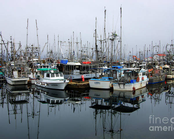 Fishing Boats Poster featuring the photograph French Creek by Bob Christopher