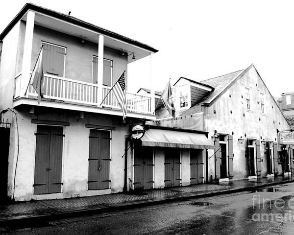 Travelpixpro New Orleans Poster featuring the digital art French Quarter Tavern Architecture New Orleans Conte Crayon Digital Art by Shawn O'Brien