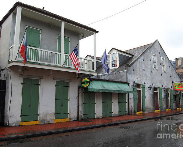 Travelpixpro New Orleans Poster featuring the photograph French Quarter Tavern Architecture New Orleans by Shawn O'Brien
