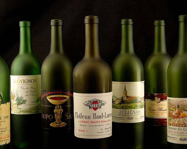 Labels Poster featuring the photograph French Wine Labels by David Campione