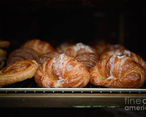 8th Arrondissement Poster featuring the photograph Fresh Croissants Paris by Ei Katsumata