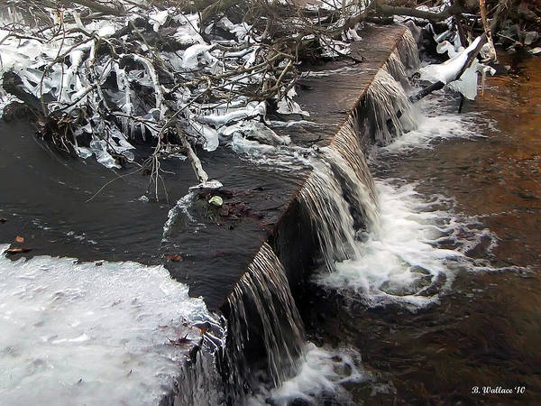 2d Poster featuring the photograph Frigid Falls by Brian Wallace