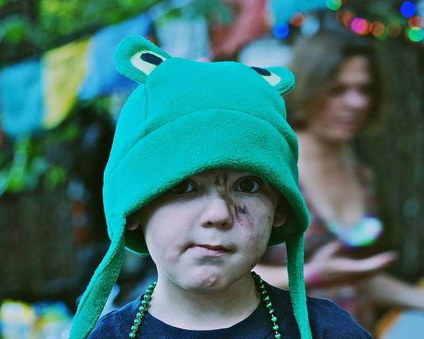 Frog Hat Poster featuring the photograph Frog Hat by Eric Tressler