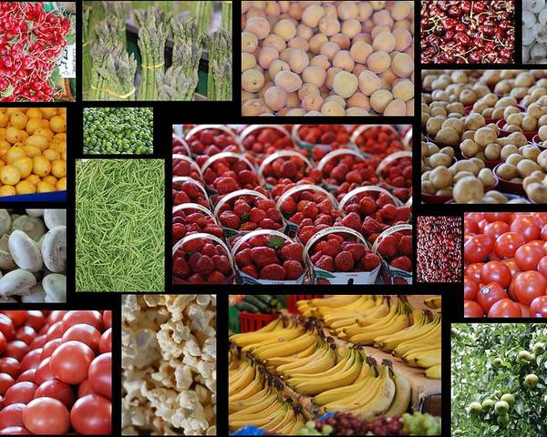 Apples Poster featuring the photograph Fruits Mosaic by Francois Cartier