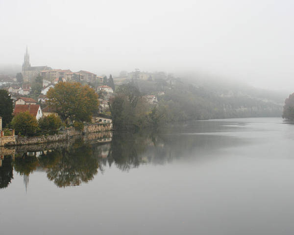 River Poster featuring the photograph Fumel On A Misty Day by Georgia Fowler