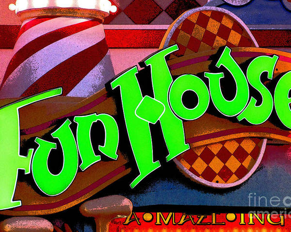 Fun House Poster featuring the photograph Funhouse by Colleen Kammerer