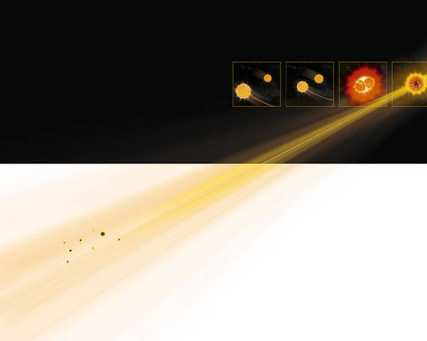 Gamma Ray Burst Poster featuring the photograph Gamma Ray Burst Formation by Claus Lunau