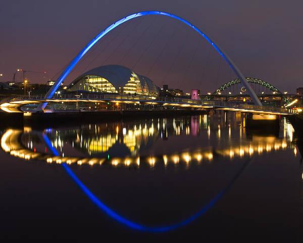 Gateshead Millennium Bridge Poster featuring the photograph Gateshead Millennium Bridge by David Pringle