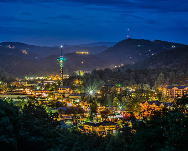 Mountains Poster featuring the photograph Gatlinburg And The Smokey Mountains by Brian Young