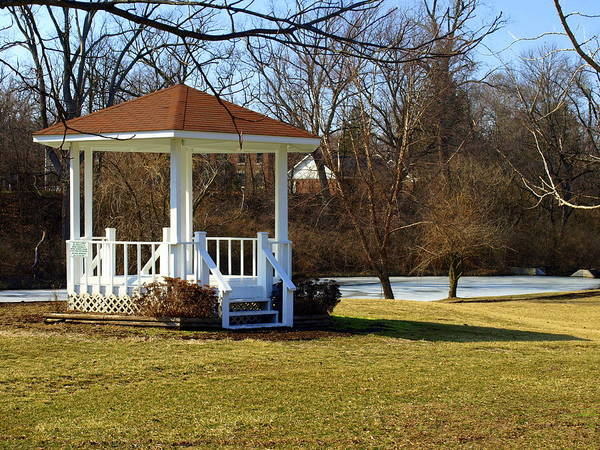 Gazebo Poster featuring the photograph Gazebo In The Park by Mike Stanfield
