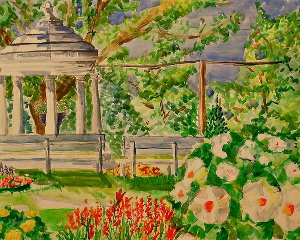 Gazebo Poster featuring the painting Gazebo by Jame Hayes