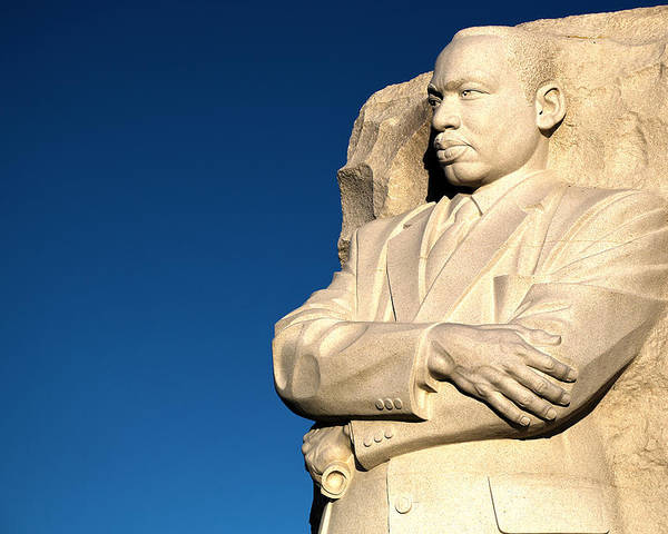 Martin Luther King Jr. Poster featuring the photograph Genuine Leader by Mitch Cat