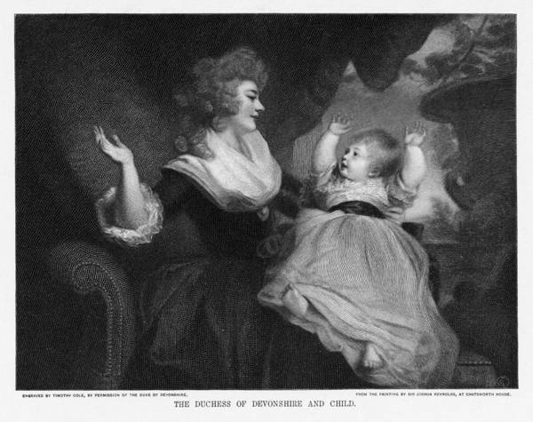 Georgiana Cavendish Poster featuring the photograph Georgiana, Duchess Of Devonshire by Miriam And Ira D. Wallach Division Of Art, Prints And Photographsnew York Public Library