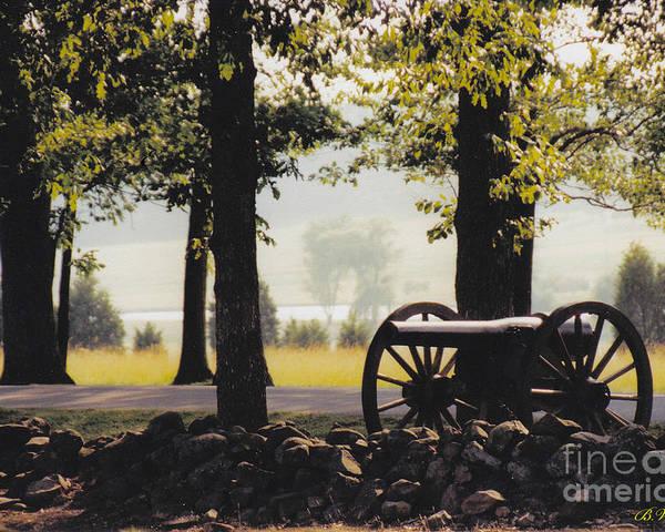 Gettysburg Poster featuring the photograph Gettysburg Artillery by Barbara Plattenburg