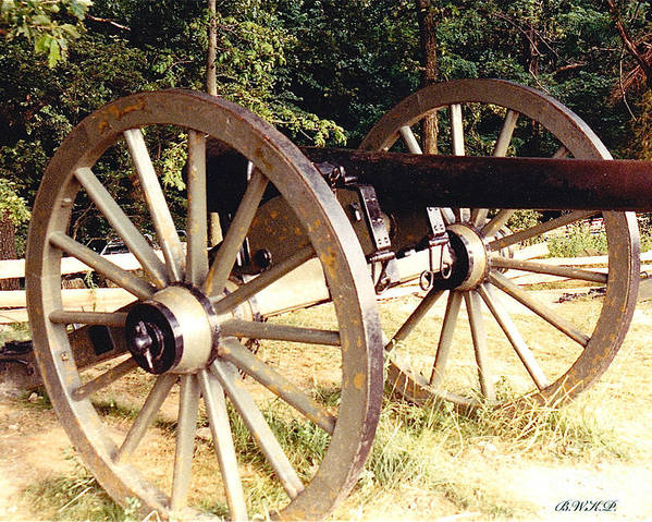 Gettysburg Cannon Poster featuring the photograph Gettysburg Cannon by Barbara Plattenburg