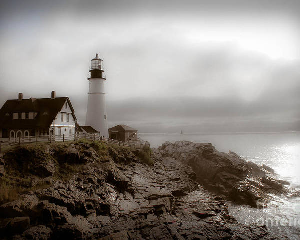 Lighthouse Poster featuring the photograph Ghost Light by Brenda Giasson