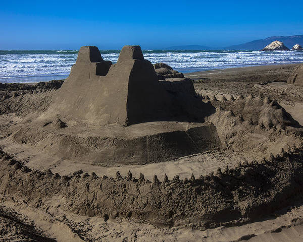Giant Sand Castle Poster featuring the photograph Giant Sand Castle by Garry Gay