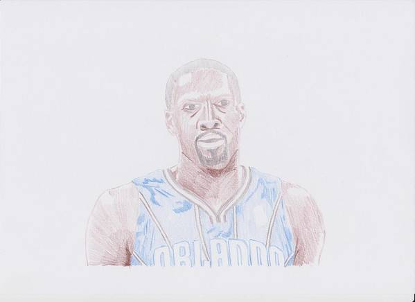 Orlando Poster featuring the drawing Gilbert Arenas by Toni Jaso