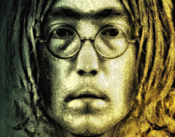 Lennon Poster featuring the digital art Give Peace A Chance by Bill Cannon