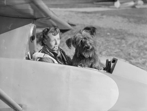 Mid Adult Poster featuring the photograph Glider Mascot by Reg Speller