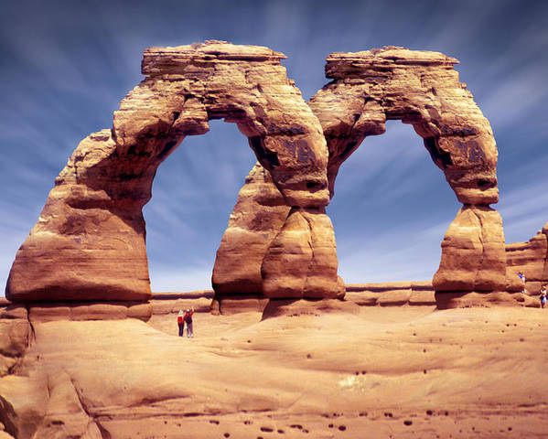 Double Arch Poster featuring the photograph Golden Arches? by Mike McGlothlen
