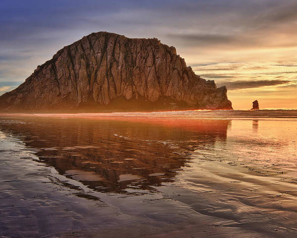 Morro Bay Poster featuring the photograph Golden by Beth Sargent