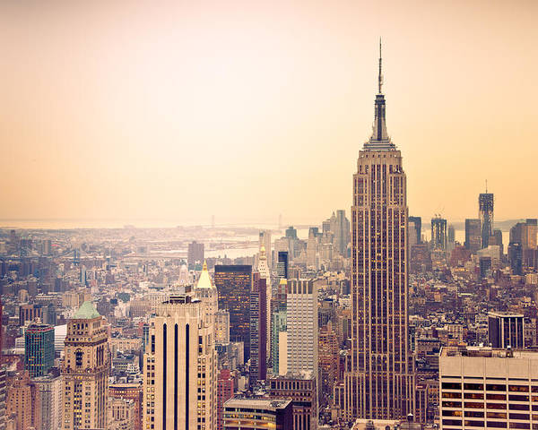 New York Poster featuring the photograph Golden City Of New York by Heidi Reyher