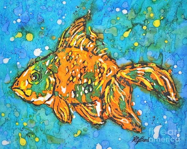 Painting Poster featuring the painting Goldfish by Norma Gafford