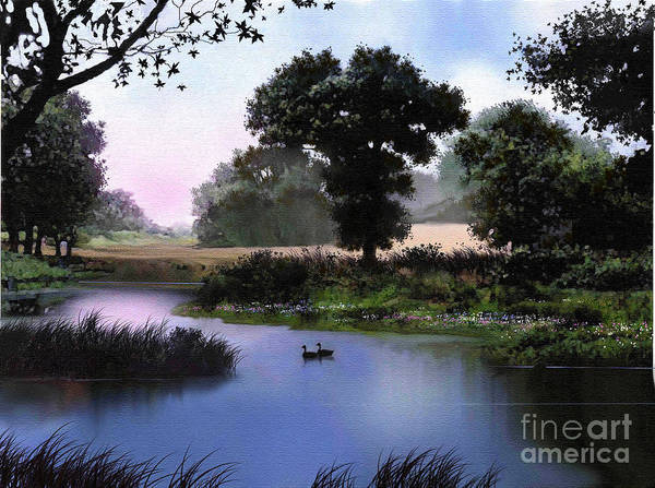 Pond Poster featuring the painting Goose Pond by Robert Foster
