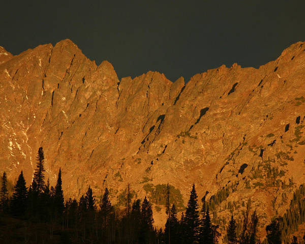Colorado Poster featuring the photograph Gore Range Alpenglow by Bob Berwyn